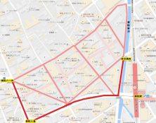 薬院1丁目歩行者マップ