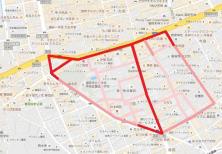今泉2丁目警固1丁目歩行者マップ