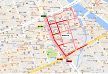 天神1丁目歩行者マップ