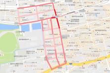 赤坂1丁目歩行者マップ