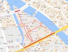 西中洲歩行者数